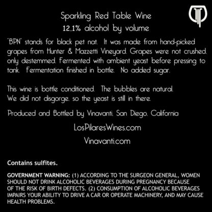 2015 BPN - Back Label