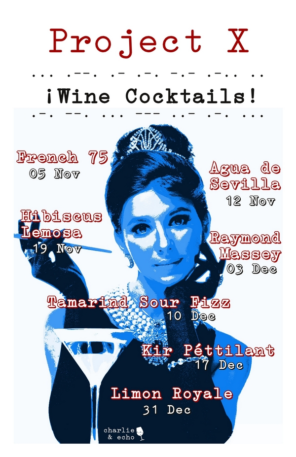 Project X. Wine Cocktails Poster